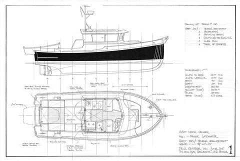 26ft Motor Cruiser TURMOIL, Design #210