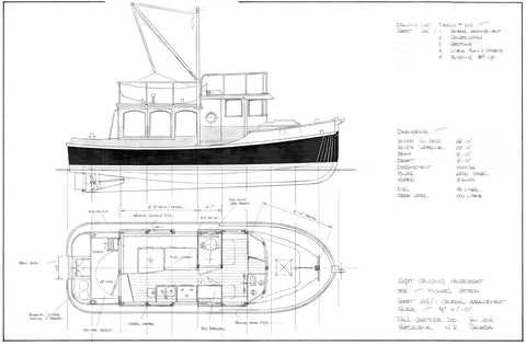 24ft Cruising Houseboat, Design #216