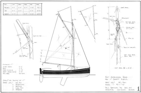16 ft Gaff Sloop, Design #218