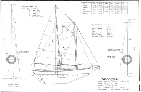30FT Schooner, Design #219