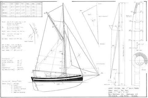 32FT Gaff Cutter, Design #223