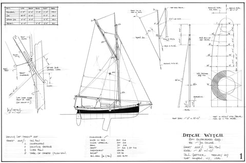 18FT Centreboard Sloop, Design #225