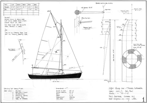 24Ft Light Sloop, Design #229