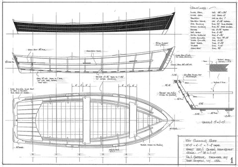 15ft Clamming Skiff  Design #230