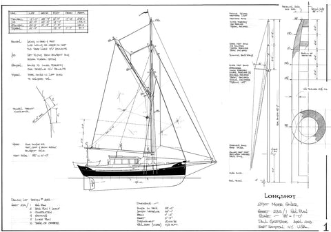 29ft Motor Sailer 'Long shot', Design #232