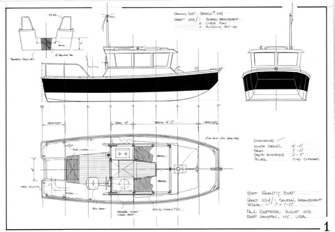 18ft Shanty Boat, Design #234