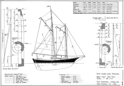 30ft Double ended Schooner, Design#235