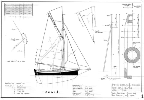 4.9 Metre (16ft) Cutter PUDEL, Design #239