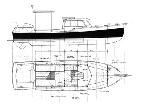 "24 ft Launch ""Wayward"", Design #119"
