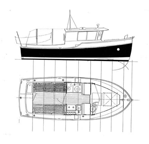 "22 ft Motor Cruiser ""Jennifer"", Design #74"