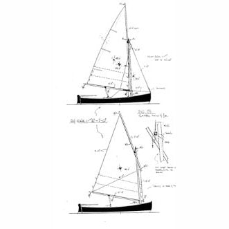 "14 ft Lapstrake Sailing Dinghy ""Skylark"", Design #107"