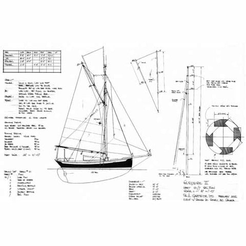 "22 ft Gaff Cutter ""Surprise II"", Design #131"