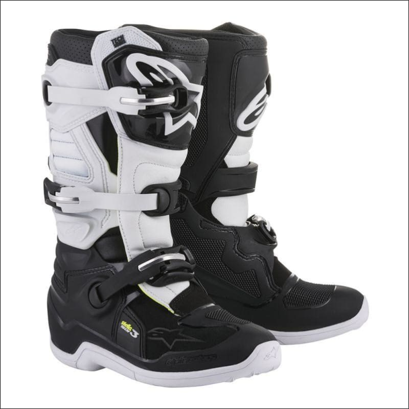 ALPINESTARS WOMENS TECH 3 STELLA MX BOOTS - 6 / BLACK/WHITE - FOOTWEAR