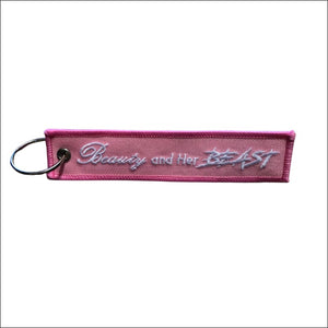 BEAUTY AND HER BEAST MOTORCYCLE KEY TAG - KEY TAG