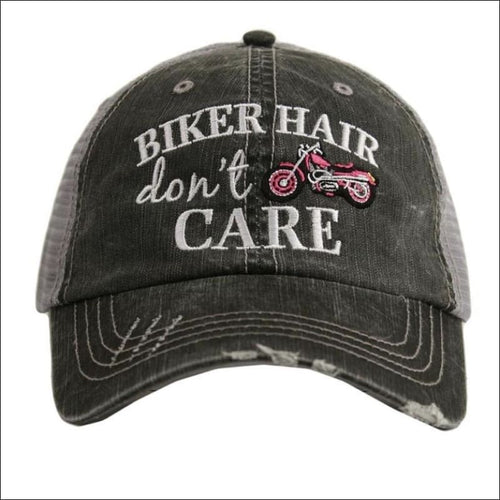 BIKER HAIR DONT CARE HAT - Pink - HAT