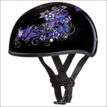 D.O.T. DAYTONA SKULL CAP WITH BUTTERFLY - 2XS - WOMEN'S MOTORCYCLE HELMET