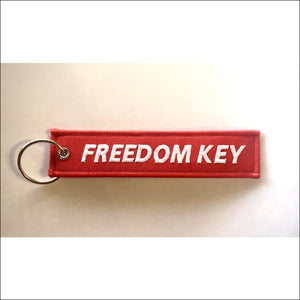 EMBROIDERED MOTORCYCLE KEY TAGS - FREEDOM KEY - KEY TAG