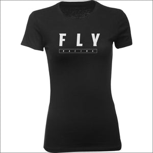 FLY LOGO TEE - S / BLACK - APPAREL