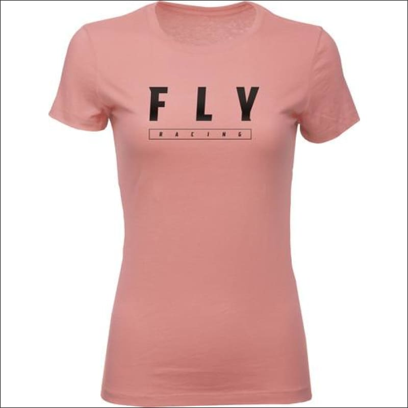 FLY LOGO TEE - S / MAUVE - APPAREL