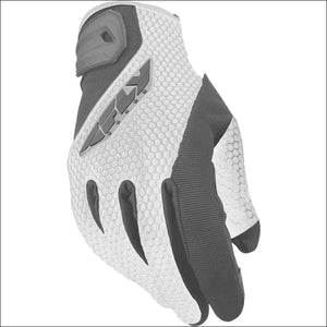 FLY RACING WOMENS COOLPRO GLOVES - 6(S) / WHITE/GRAY - WOMEN'S DIRTBIKE GLOVES