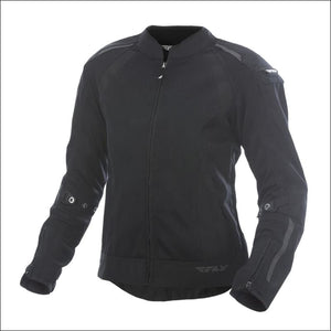 FLY RACING WOMENS COOLPRO JACKET - XS / BLACK - WOMEN'S MOTORCYCLE JACKET