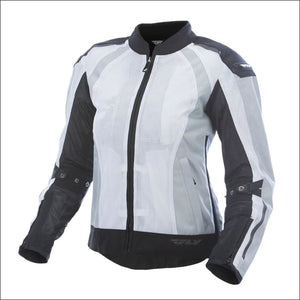 FLY RACING WOMENS COOLPRO JACKET - XS / WHITE/BLACK - WOMEN'S MOTORCYCLE JACKET