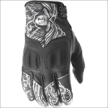 HIGHWAY 21 WOMENS VIXEN GLOVES - 6(S) / BLACK/WHITE LACE - GLOVES