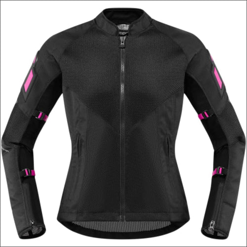 ICON WOMENS MESH AF JACKETS - XS - PINK MOTORCYCLE JACKET