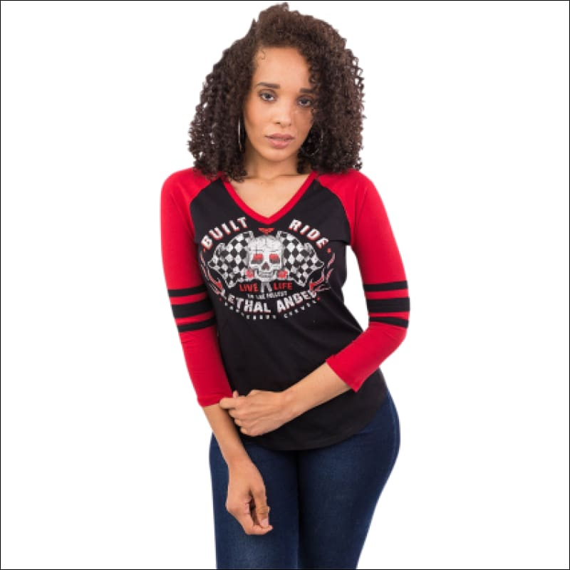 LETHAL ANGEL BUILT TO THRILL LONG SLEEVE WOMEN'S SHIRT - APPAREL