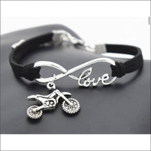 LOVE FOR MOTOCROSS BRACELET - BLACK - BRACELET