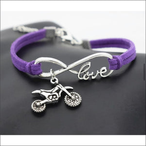 LOVE FOR MOTOCROSS BRACELET - PURPLE - BRACELET
