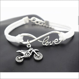 LOVE FOR MOTOCROSS BRACELET - WHITE - BRACELET