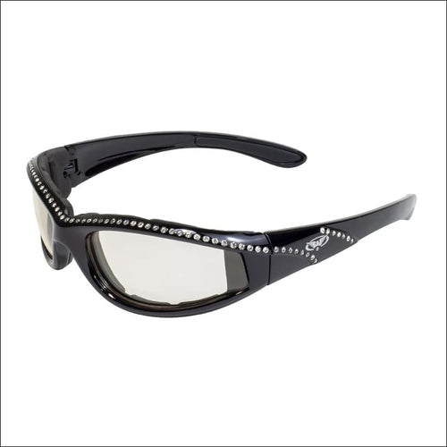 MARILYN 11 PHOTOCHROMATIC WOMENS MOTORCYCLE RIDING GLASSES - BLACK - GLASSES
