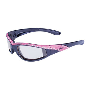 MARILYN 11 PHOTOCHROMATIC WOMENS MOTORCYCLE RIDING GLASSES - PINK - GLASSES