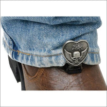 RYDER CLIPS FOR STRRUP/STRAP BOOTS - HEART SKULL - FOOTWEAR