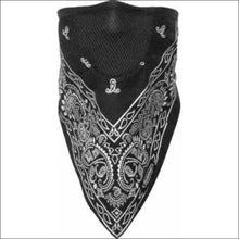 SCHAMPA FACEFIT FACEMASK - TIE BACK - BLACK PAISLEY - FACE MASK