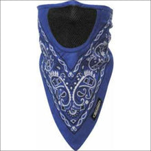 SCHAMPA FACEFIT FACEMASK - TIE BACK - BLUE PAISLEY - FACE MASK