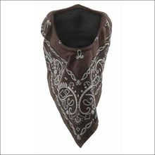 SCHAMPA FACEFIT FACEMASK - TIE BACK - BROWN PAISLEY - FACE MASK