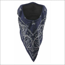 SCHAMPA FACEFIT FACEMASK - TIE BACK - NAVY PAISLEY - FACE MASK