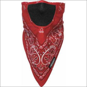 SCHAMPA FACEFIT FACEMASK - TIE BACK - RED PAISLEY - FACE MASK