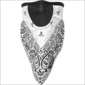 SCHAMPA FACEFIT FACEMASK - TIE BACK - WHITE PAISLEY - FACE MASK