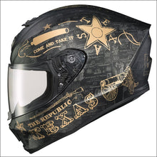 SCORPION EXO-R420 FULL FACE HELMET LONE STAR HELMET - S / BLACK/GOLD - HELMET