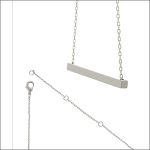 SILVER BAR NECKLACE - SISTERS - NECKLACE