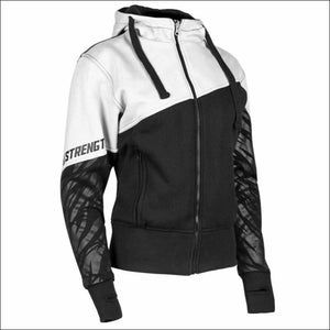 SPEED AND STRENGTH CAT OUTA HELL ARMORED HOODY - XSmall / White/Black - Jacket