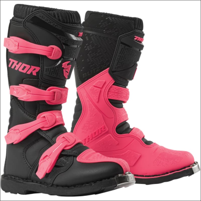THOR WOMENS BLITZ XP BOOTS - 5 / BLACK/PINK - BOOTS