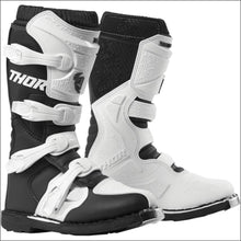 THOR WOMENS BLITZ XP BOOTS - 5 / BLACK/WHITE - BOOTS