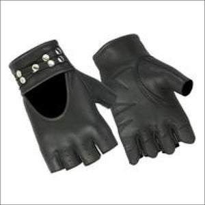 Womens Fingerless Glove with Rivets Detailing - FINGERLESS GLOVES