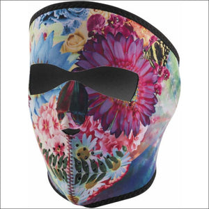 ZANHEADGEAR FLOWER SKULL FULL-FACE NEOPRENE MASK - FACE MASK