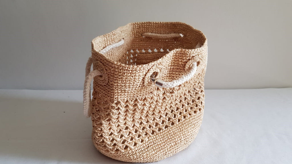 Sac en Raphia de  MADAGASCAR crochet - HOME TO YOU