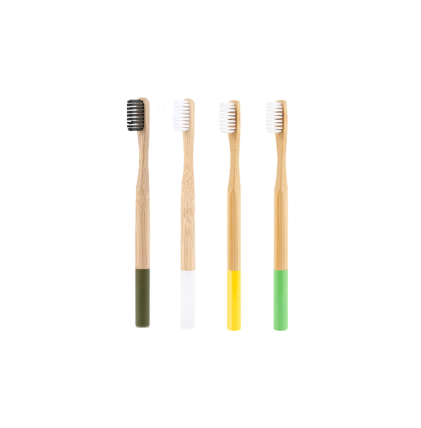4 brosses à dents en bois colorés - HOME TO YOU